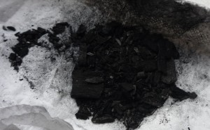 A sample of biochar